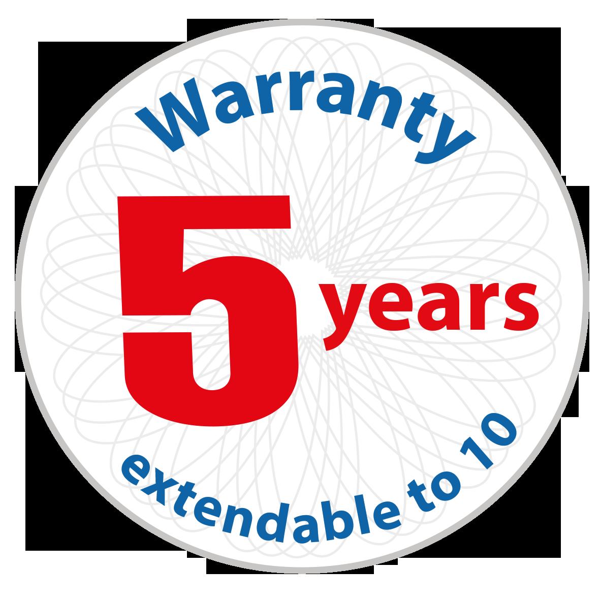 Warranty 5-10years